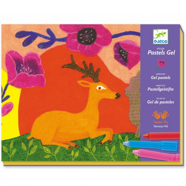 Coffret Atelier Pastels gel 'Farouches' DJECO 8617