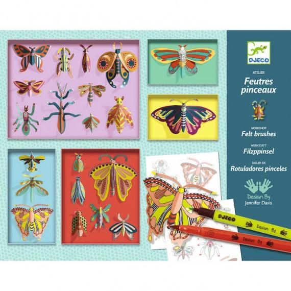 Coffret atelier feutres pinceaux 'Cabinet de curiosités' DJECO 8619