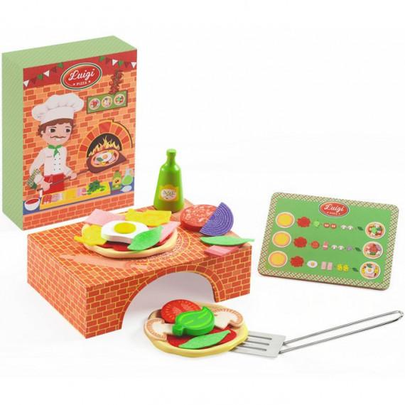 Luigi Pizza DJECO 6538, jouet dînette Djeco (nouveau modèle)
