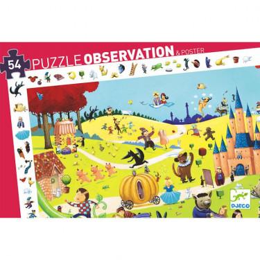 Contes, puzzle observation 54 pcs DJECO 7561
