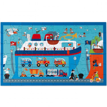 Puzzle 60 pcs Ferry Boat Scratch