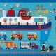 Puzzle 60 pcs Ferry Boat Scratch