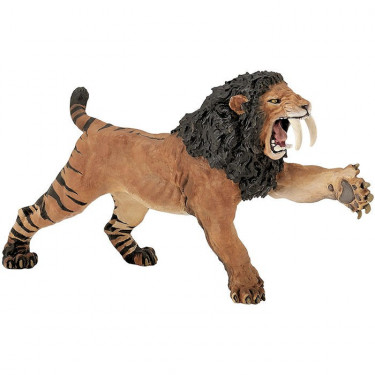 Smilodon rugissant, figurine PAPO 55067