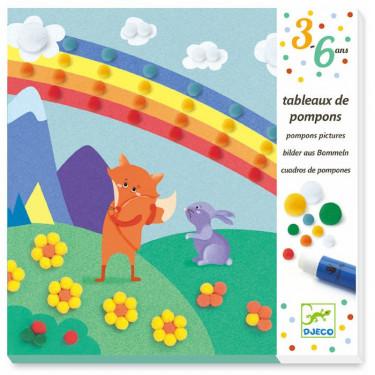 Tableaux de pompons 'En douceur' DJECO 9865