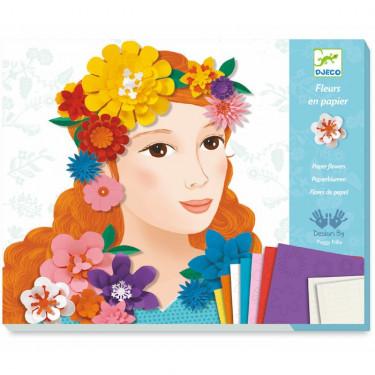 Fleurs en papier 'Jeunes filles en fleurs' DJECO 9439