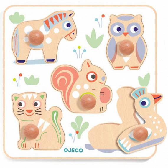 Puzzle BabyPuzzy, jeu d'encastrement en bois DJECO 6107