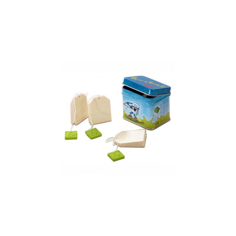 bo te th avec sachets jouet en bois haba 1515 jouets. Black Bedroom Furniture Sets. Home Design Ideas