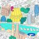 Poster de LONDRES à colorier, Omy