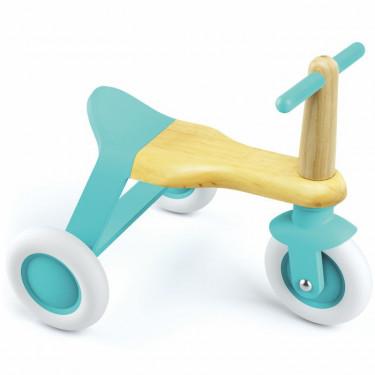 Porteur tricycle en bois pour enfant DJECO 204 Blue Roll'it !