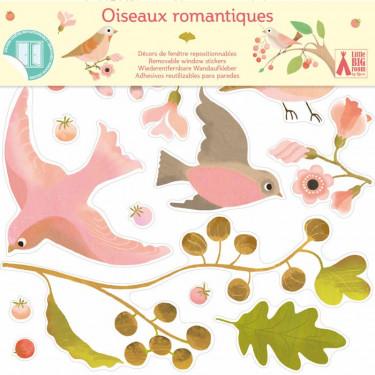 Stickers de fenêtre repositionnables 'Oiseaux romantiques' DJECO 5052