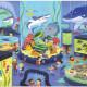 Puzzle Une journée au musée 'Aquarium' 48 pcs CROCODILE CREEK