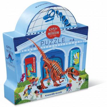 Puzzle Une journée au musée 'Dinosaures' 48 pcs CROCODILE CREEK