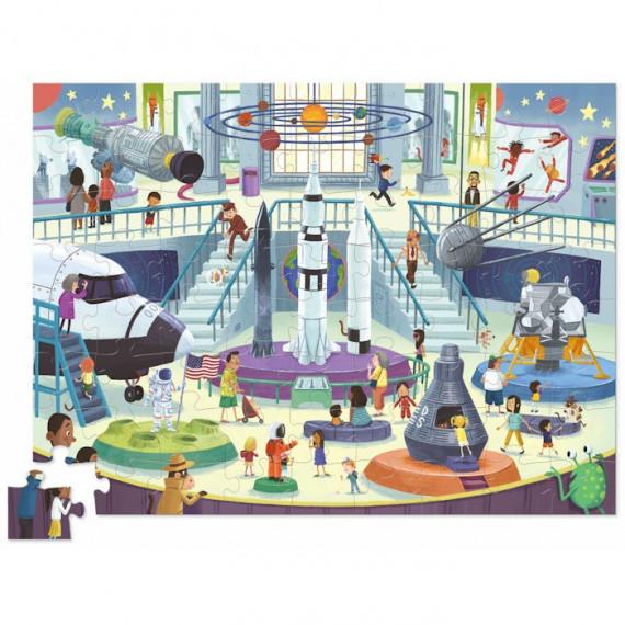 Puzzle Une journée au musée 'Espace' 72 pcs CROCODILE CREEK