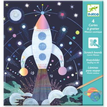 Cartes à gratter 'Mission cosmique' DJECO 9727