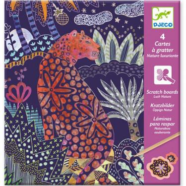 Cartes à gratter 'Nature luxuriante' DJECO 9728