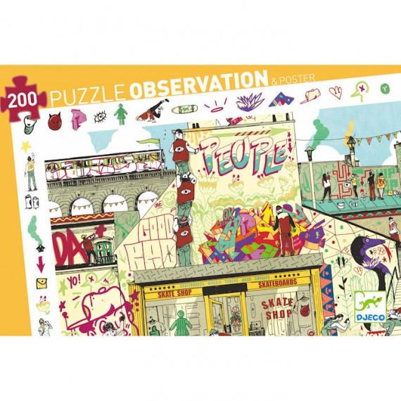 Puzzle observation 'Street Art' 200 pcs DJECO 7453