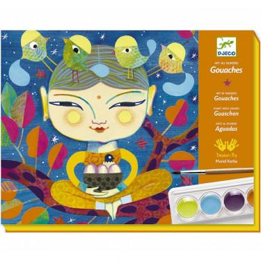 """Coffret gouaches """"India"""", Art au numéro DJECO 8964"""