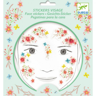 Stickers visage enfant 'Fée du printemps' DJECO 9212