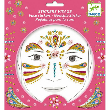 Stickers visage enfant 'Princesse or' DJECO 9211