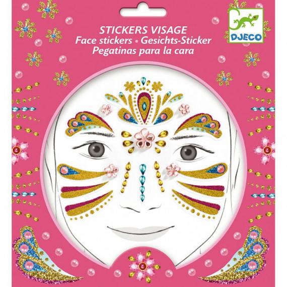 Stickers visage enfant 'Princesse or' DJECO 9211