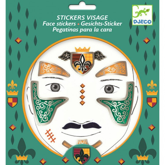 Stickers visage enfant 'Chevalier' DJECO 9216