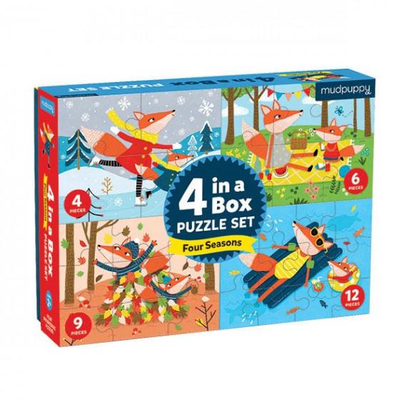 4 puzzles pour enfant 'Les quatre saisons' Mudpuppy