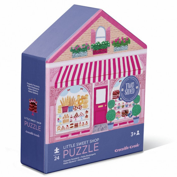 Puzzle double face silhouette 24 pcs 'La petite boulangerie' Crocodile Creek