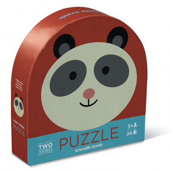 Puzzle rond double face 24 pcs 'Le panda et ses amis' Crocodile Creek
