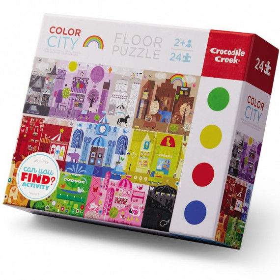 Puzzle éducatif 24 pcs 'La ville des couleurs' Crocodile Creek