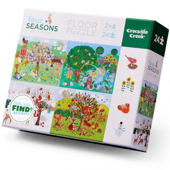Puzzle éducatif 24 pcs 'Les quatre saisons' Crocodile Creek