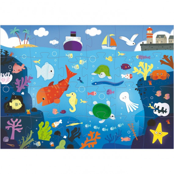 Puzzle géant 'Sous la mer' 24 pcs + 8 DJECO 7116