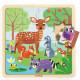 Puzzle en bois 'Puzzlo Forêt' 16 pcs DJECO 1812