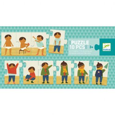 Puzzle éducatif 'Je m'habille' 10 pcs DJECO 8178