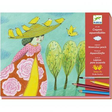 Atelier crayons aquarellables 'Echappées belles' DJECO 8609