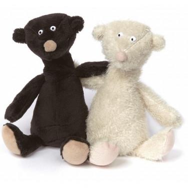 2 oursons noir et blanc en peluche SIGIKID Sweet Beasts 38935