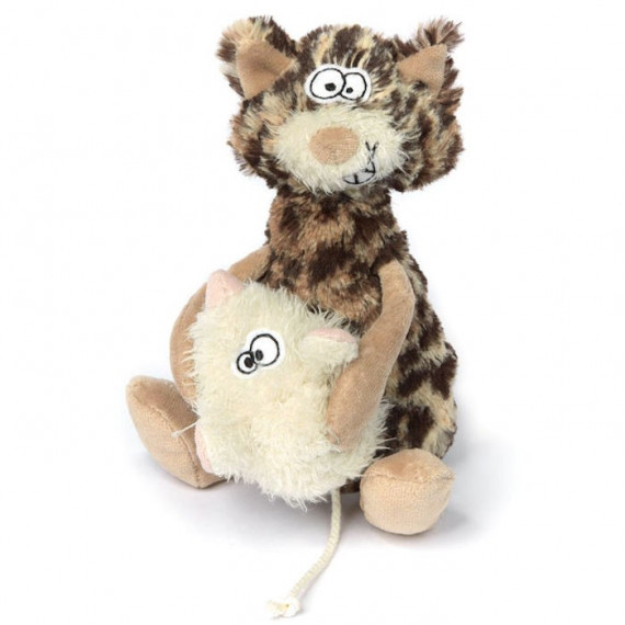 Chat et souris en peluche SIGIKID Sweet Beasts 38934