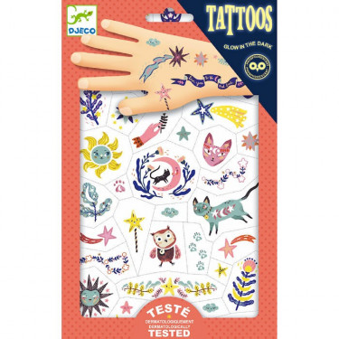 Tatouages phosphorescents 'Sweet dreams' DJECO 9592