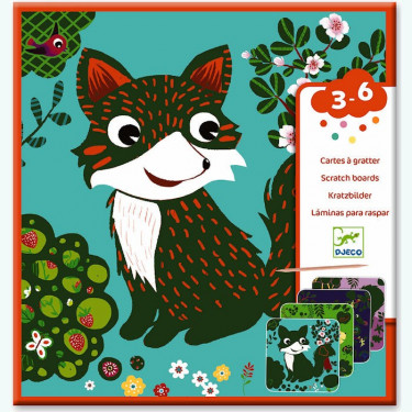 Cartes à gratter 'Petites bêtes' DJECO 9093