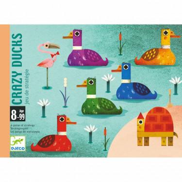 Crazy Ducks, jeu de cartes de stratégie DJECO 5181