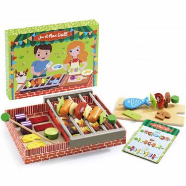 Joe et Max Grill, jouet dinette barbecue DJECO 6543
