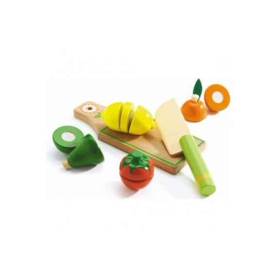 Fruits et légumes à couper, jouet en bois DJECO DJO6526