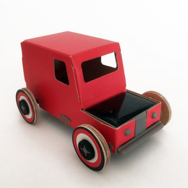 Autogami rouge 'tomate', voiture solaire