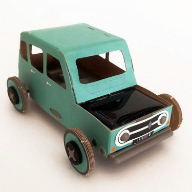 Autogami Renault 4L bleu turquoise, voiture solaire