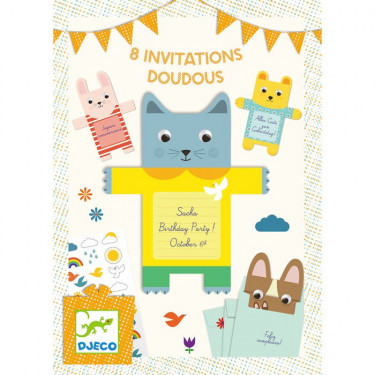 Cartes d'invitation Doudous DJECO 4780