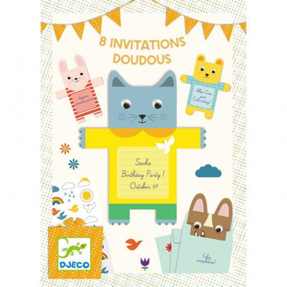 Cartes d'invitation Doudous DJECO 4780
