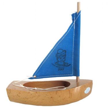 Petit voilier TIROT en bois, voile bleue, modèle 200
