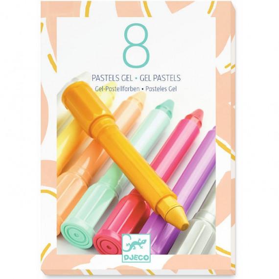 8 pastels gel 'sweet' DJECO 8814