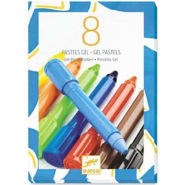 8 pastels gel 'classique' DJECO 8812
