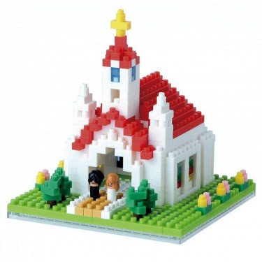 Mariage à l'église nanoblock
