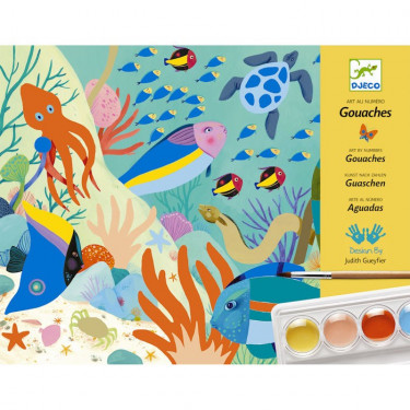 "Coffret gouaches ""Natural world"", Art au numéro DJECO 8965"